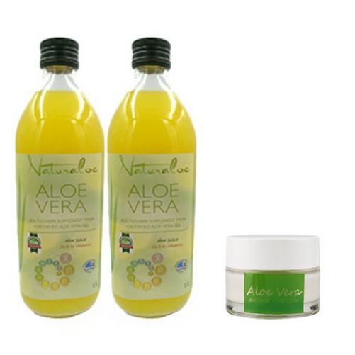 2 sticle Aloe Vera Multivitamin 1 L + 1x Crema HYDRA MAGIC